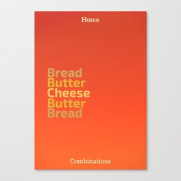 Food Combinations Canvas Print