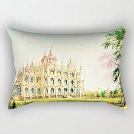 P.T. Barnum's 1848 lost palace of Iranistan in Bridgeport, Connecticut Rectangular Pillow