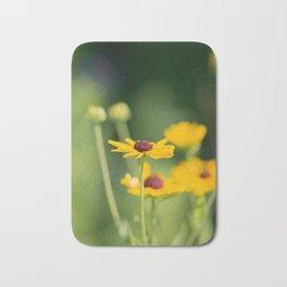 Portrait of a Wildflower in Summer Bloom Bath Mat