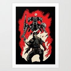Hellboss Art Print