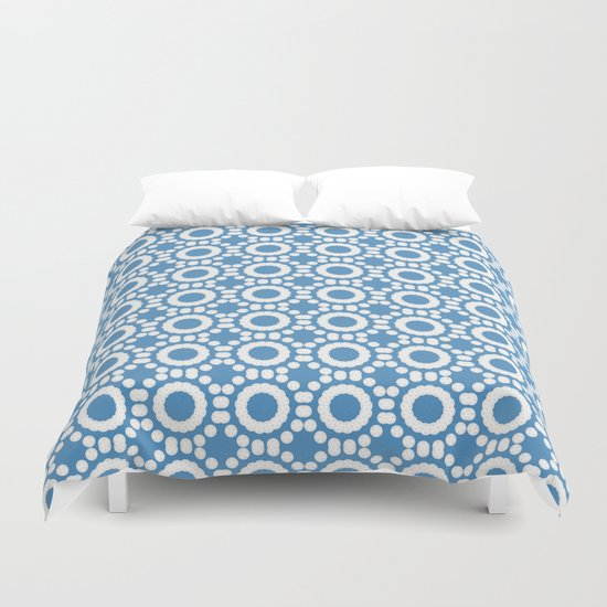 Round and Round Blue Duvet Cover