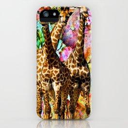 GIRAFFE TRIO iPhone Case