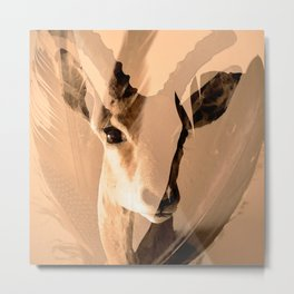Beautiful and fast - Impala portrait Metal Print