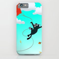 Cat on a Kite - Autumn Cat iPhone 6s Slim Case