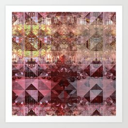 Wednesday 12 June 2013: Equals and/or opposites force collision/collusion. Art Print