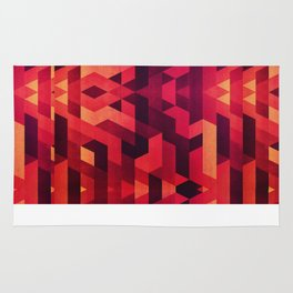 Abstract red geometric triangle texture pattern design (Digital Futrure - Hipster / Fashion) Rug