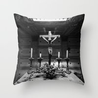 jesus Throw Pillows featuring Jesus by Mauro Squiz Daviddi