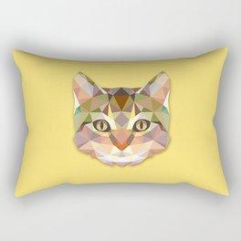 Geometric Cat Rectangular Pillow