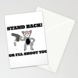 Unique & Funny Ringtail Cat Tshirt Design Stand Back Stationery Cards