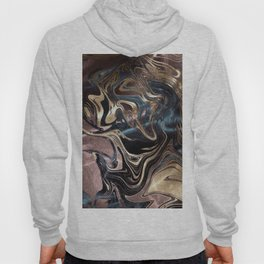 Marble Paint Swirl Trendy Abstract Glitter Rose Gold Pink Teal Turquoise Hoody