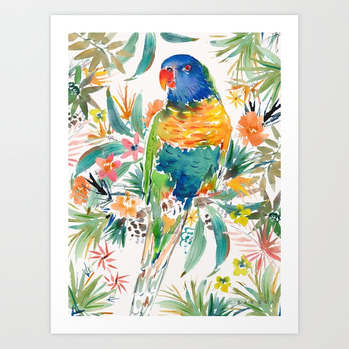 KEETH the Rainbow Lorikeet Kunstdrucke