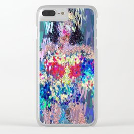 Superhero Type Art Comics Woman Clear iPhone Case