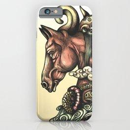 Horse Doodle Flat iPhone Case