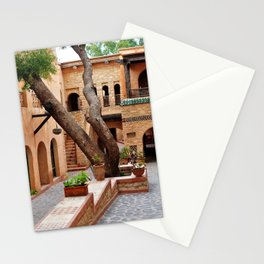 agadir medina courtyard Stationery Cards