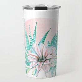 Desert Cactus Succulent Travel Mug