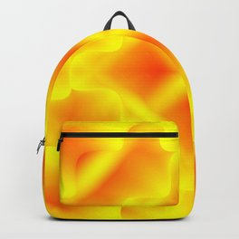Bright pattern of blurry gold and yellow flowers in a vintage kaleidoscope. Backpack
