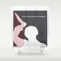 No185 My Psycho minimal movie poster Shower Curtain