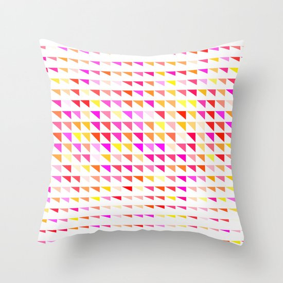 fete triangle pattern Throw Pillow by Emma Method Society6