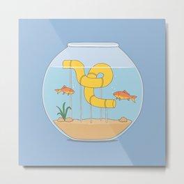 water slide Metal Print