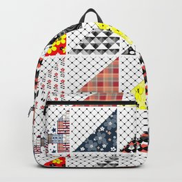 Multi-colored patchwork Backpack