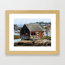 Buoy Shed Framed Art Print