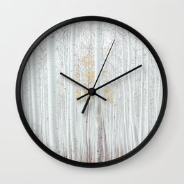 White tree forest Wall Clock