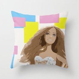Square Block Pop Portrait Throw Pillow
