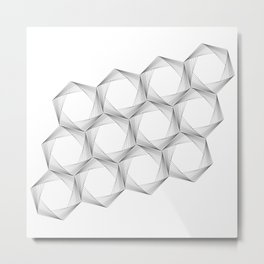 crazy hexagons Metal Print