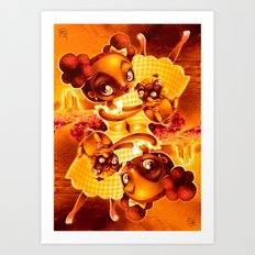 Adventure with Pug Art Print