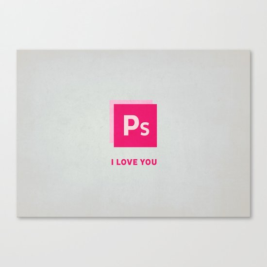 Ps I love you Canvas Print