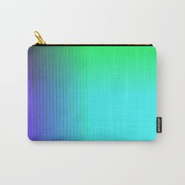Cyan Green Purple Red Blue Black ombre rows and column texture Carry-All Pouch
