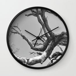 Driftwood Ladder B/W Wall Clock