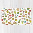 Awesome retro junk food icons by littlesmilemakersstudio