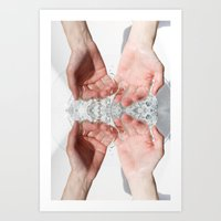 washing of hands Art Print