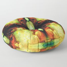 Healing Energy - Visionary Art By Sharon Cummings Floor Pillow