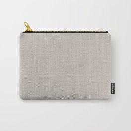 Gray Beige Solid Color Coordinates with Kelly Moore Accent Color KM4934 Zebra Finch Carry-All Pouch