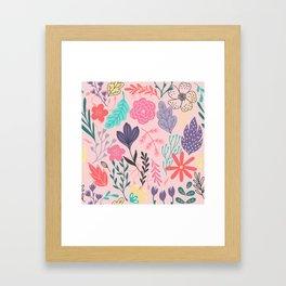 Nature Colorful Blush Framed Art Print