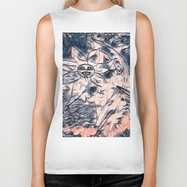 Flower Venom Black and White Biker Tank