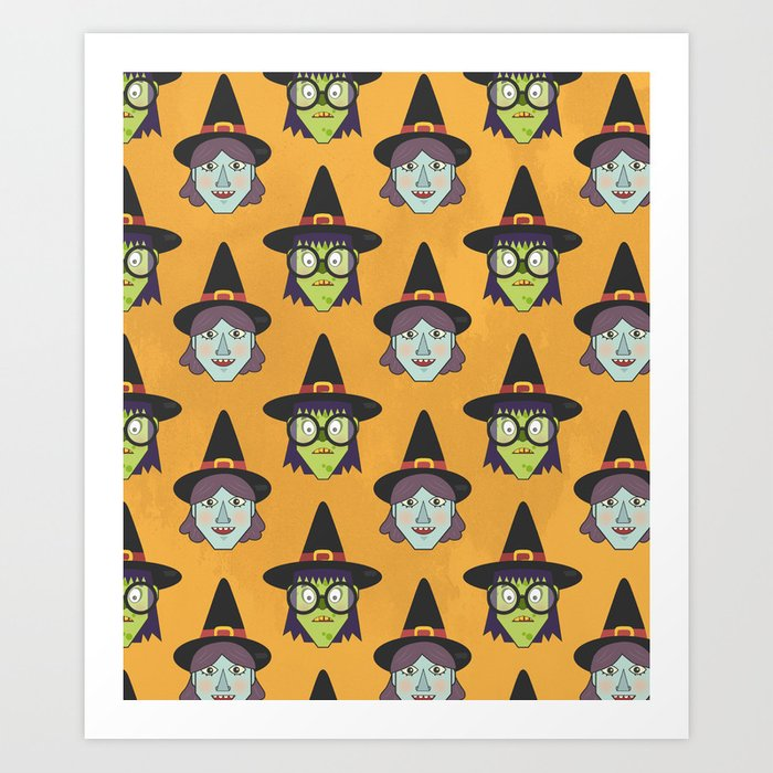 Good Witch VS Bad Witch (Patterns Please) Art Print