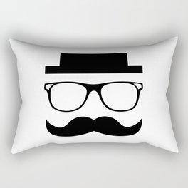 Hipster Mustache Rectangular Pillow