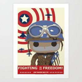 Fighting For Freedom Background Art Print