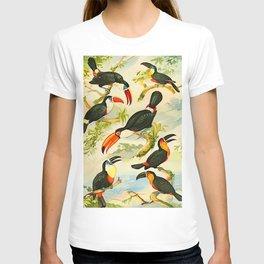 Album de aves amazonicas - Emil August Göldi - 1900 Tropical Colorful Amazon Birds T-shirt