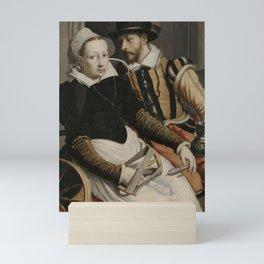 Pieter Pietersz I - Man and Woman at a Spinning Wheel Mini Art Print