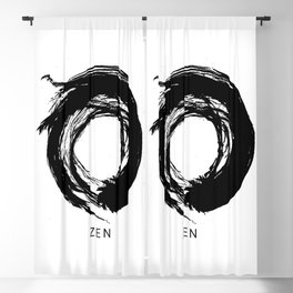 Zen Enso Circle Blackout Curtain