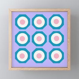 floating shapes Framed Mini Art Print