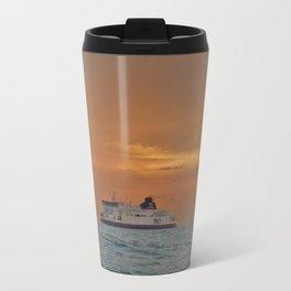 Ferry At Sunrise Travel Mug