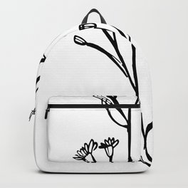 Gum Tree Branch with Blossom by Jess Cargill Backpack