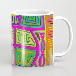 San Blas Indian Kuna Abstract Coffee Mug