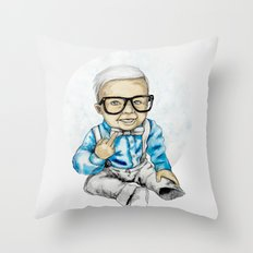 Naughty Boy by carographic Throw Pillow