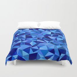 Blue tile mosaic Duvet Cover